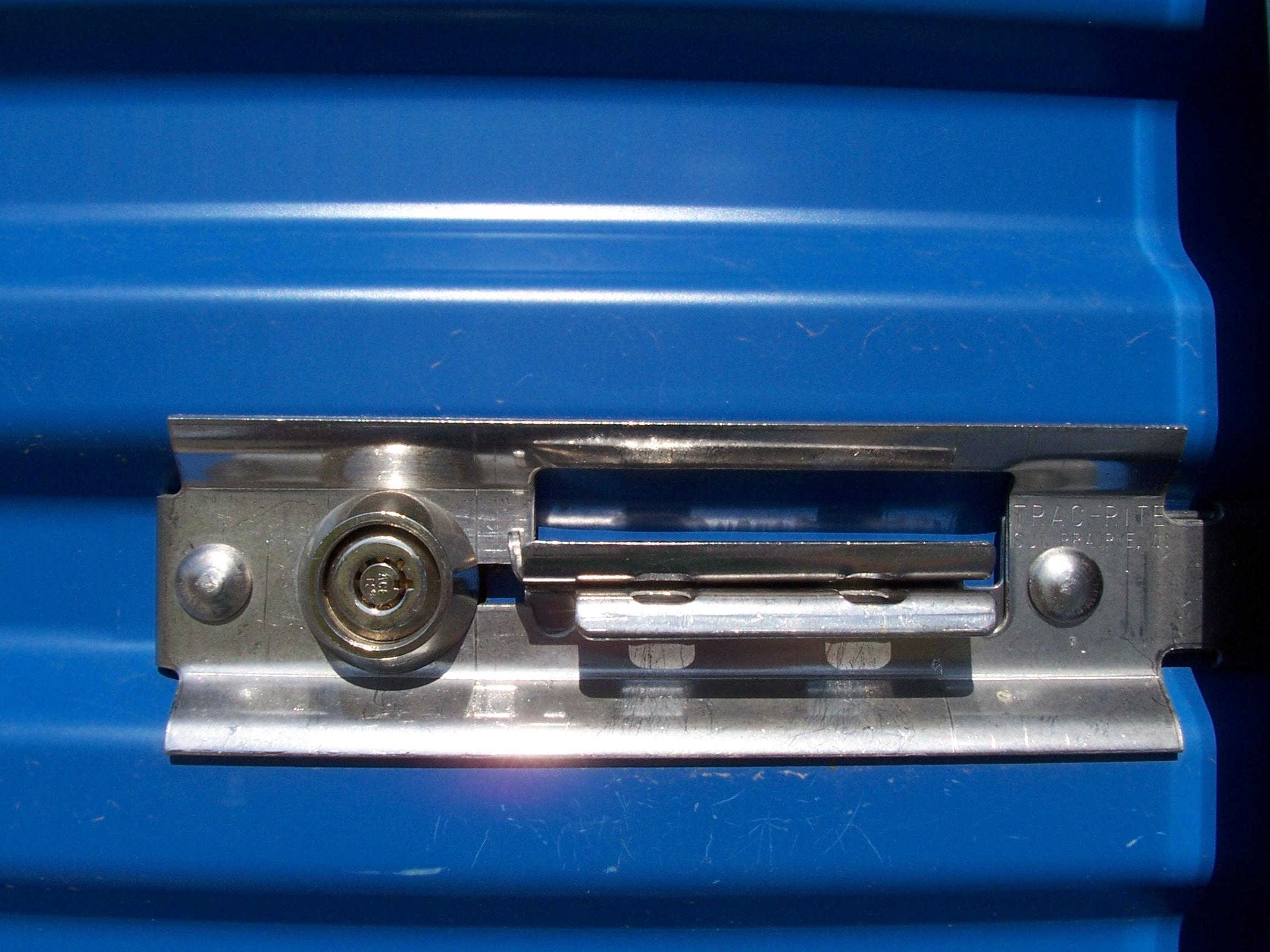 Inside storage and Gaurdian door locks