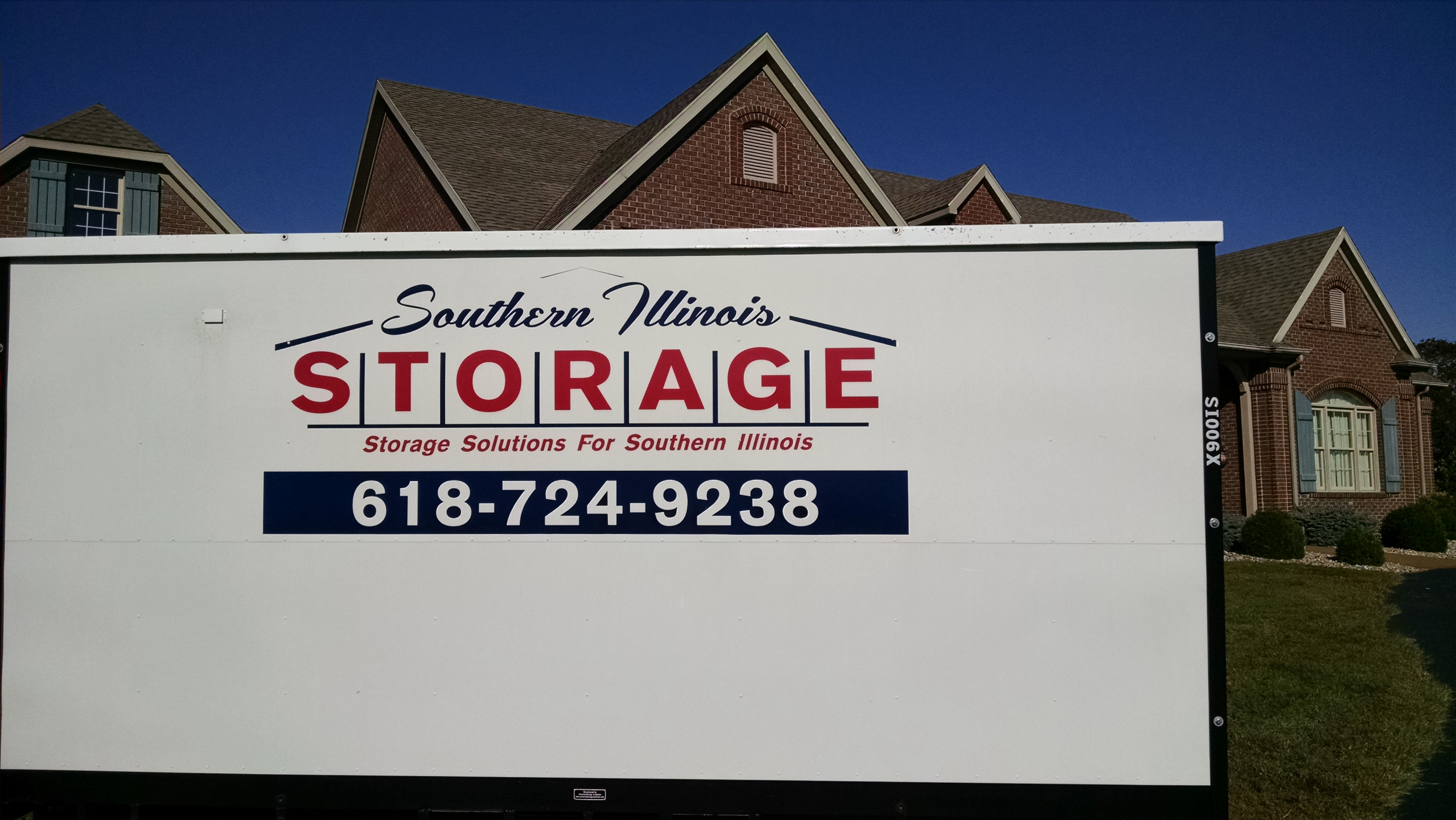 Convenient on site storage with portable storage containers.